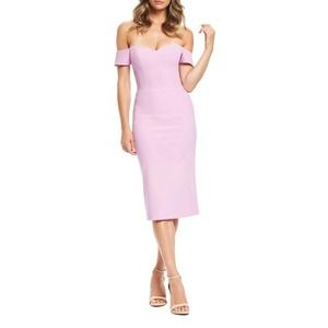 new dress the population bailey midi dress large